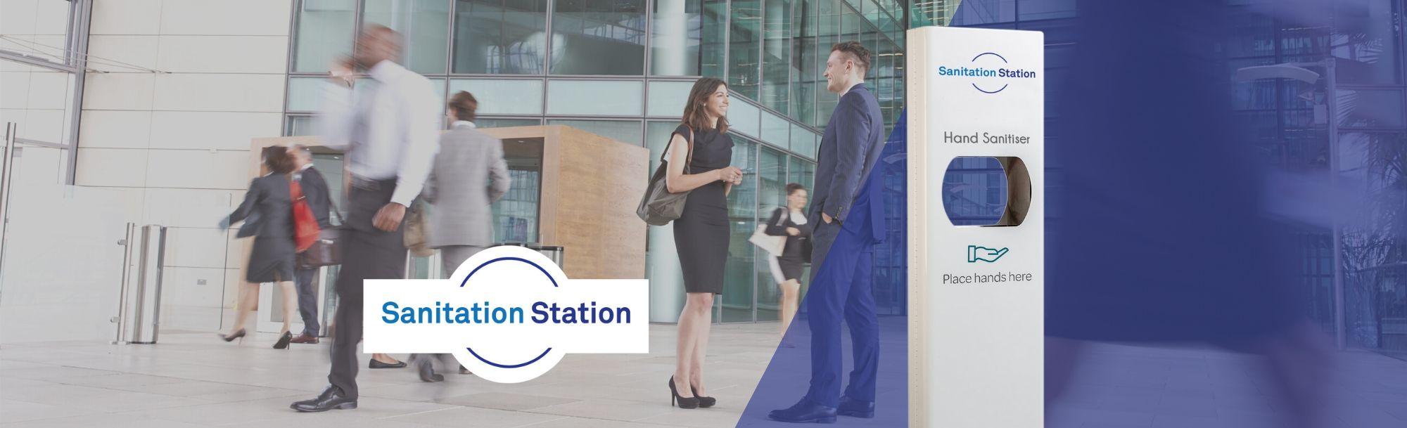 Automatic Hand Sanitiser Dispenser Stand | Sanitation Station